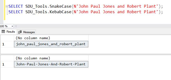 SDU Tools: Converting T-SQL Strings to Snake Case and Kebab Case