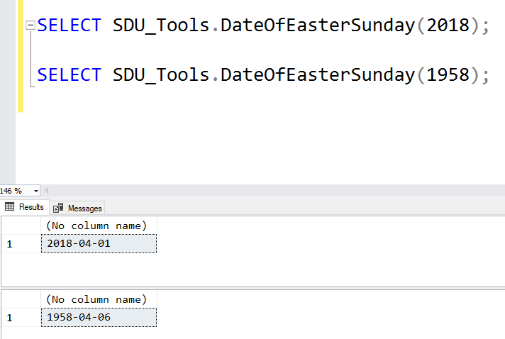 SDU Tools: Date of Easter Sunday