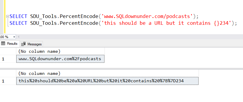 SDU Tools: Percent Encode a T-SQL String