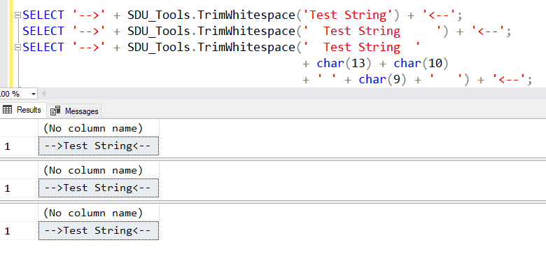 SDU Tools: Trim Whitespace in T-SQL