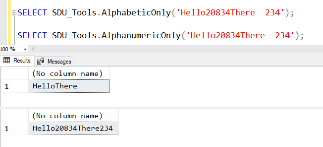 SDU Tools: Alphabetic Only and Alphanumeric Only in T-SQL