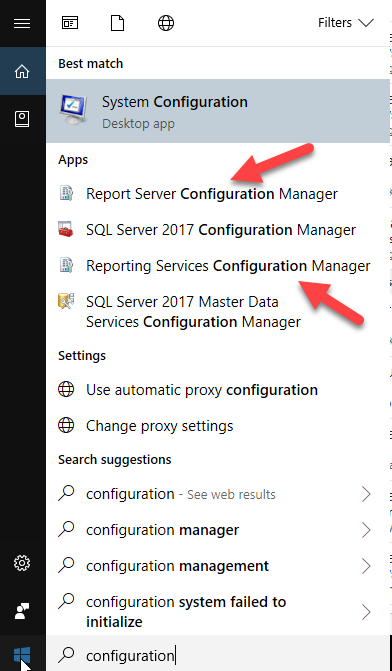 Fix: Reporting Services Configuration Manager can't find