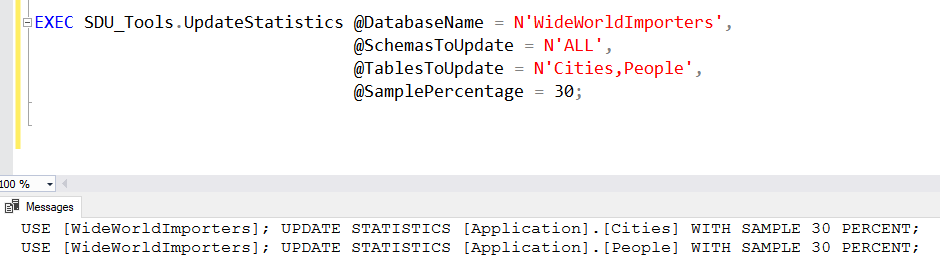 SDU Tools: Update Statistics on SQL Server Tables