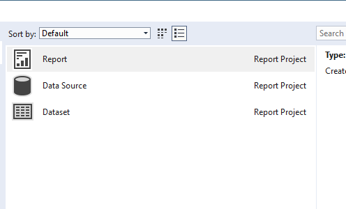 SQL: Where did my Reporting Services templates disappear to in VS2017?