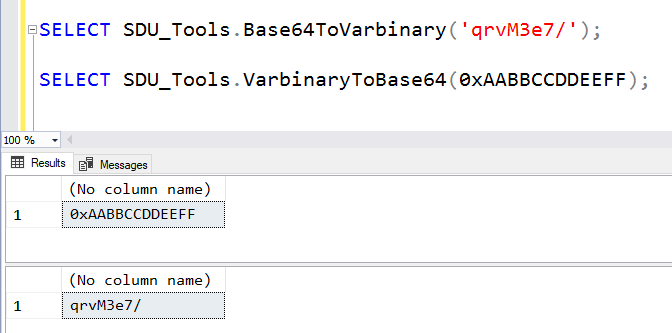 SDU Tools: Converting between Base64 and Varbinary in T-SQL