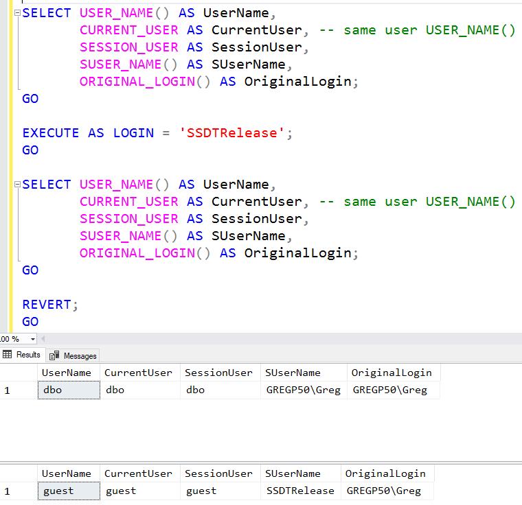 SQL: Make sure to use ORIGINAL_LOGIN when auditing