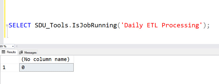SDU Tools: Is a SQL Server Agent Job Running ?