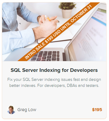SQL Server Indexing for Developers – new online on-demand training course