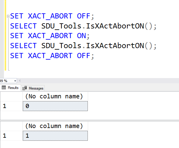 SDU Tools: Is XACT_ABORT on in my SQL Server session?