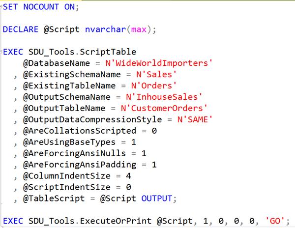 SDU Tools: Script SQL Server Table