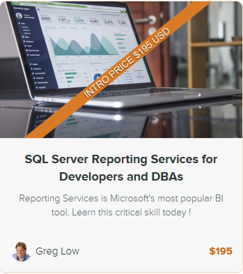 Our new online on-demand SQL Server Reporting Services class is now live!