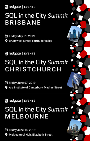 SQL in the City – Brisbane, Christchurch, Melbourne – Hope to see you there