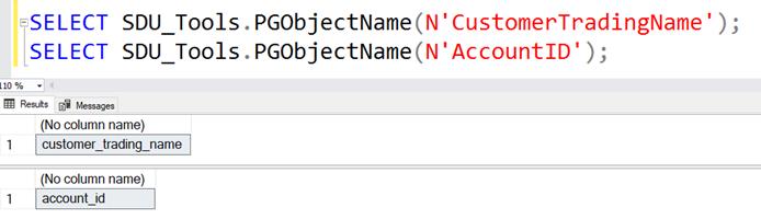 SDU Tools: Migrate SQL Server Object Names to PostgreSQL Names