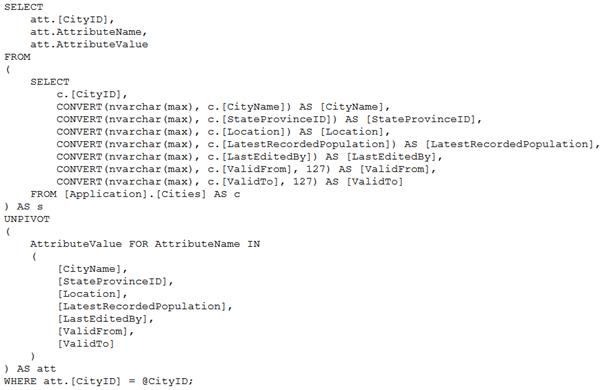 SDU Tools: Script SQL Server Table as T-SQL Unpivot