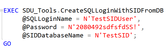 SDU Tools: Create SQL Server Login with SID from a database