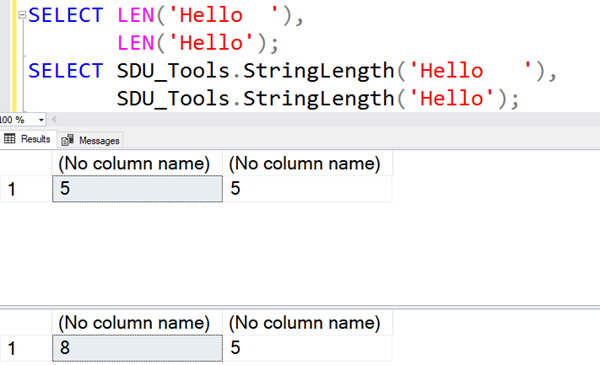 SDU Tools: Calculate string length in SQL Server T-SQL