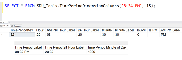 SDU Tools: Calculate Time Period Dimension Columns in SQL Server T-SQL
