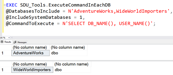 SDU Tools: Execute a T-SQL command in each SQL Server database