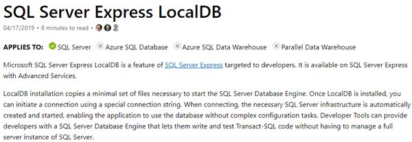 SQL: Accessing SQL Server Express localdb from another computer