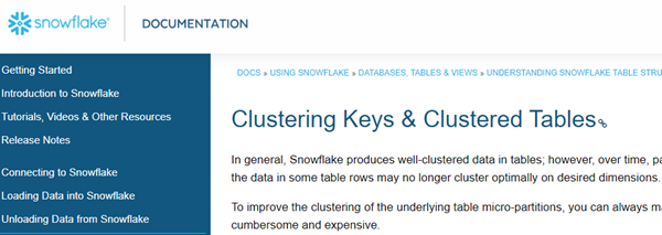 Snowflake for SQL Server Users – Part 17 – Data clustering