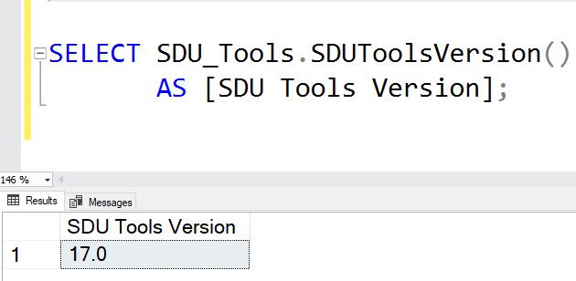 SDU Tools: SQL Server SDU Tools Version