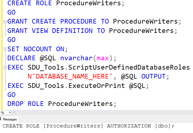 SDU Tools: Script User Defined Database Roles in SQL Server