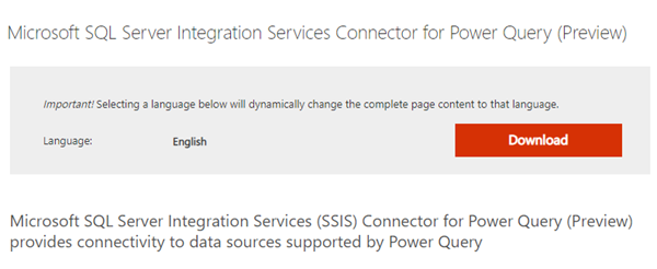 BI: Wondering where you Integration Services Connector for Power Query has gone in Visual Studio 2019?