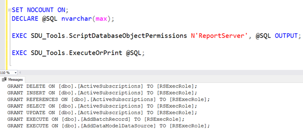 SDU Tools: Script Database Object Permissions in SQL Server T-SQL