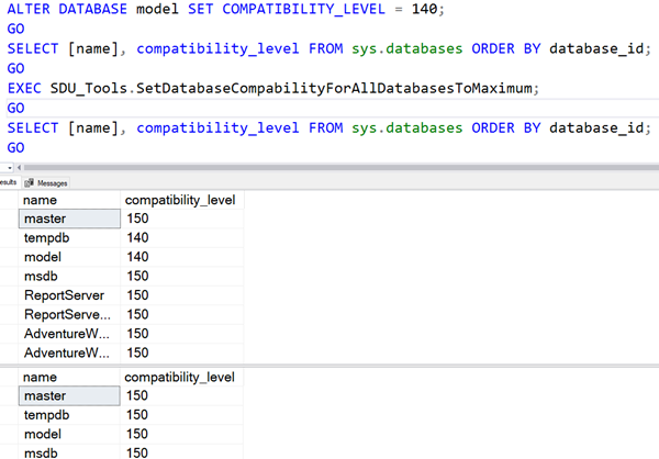SDU Tools: Set Database Compability For All SQL Server Databases To Maximum