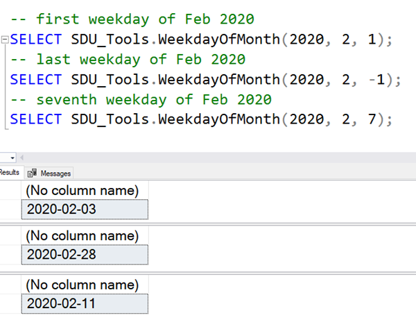 SDU Tools: Calculate week day of the month in SQL Server T-SQL
