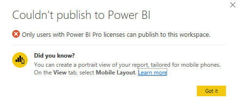Fix: Power BI – Couldn't publish to Power BI