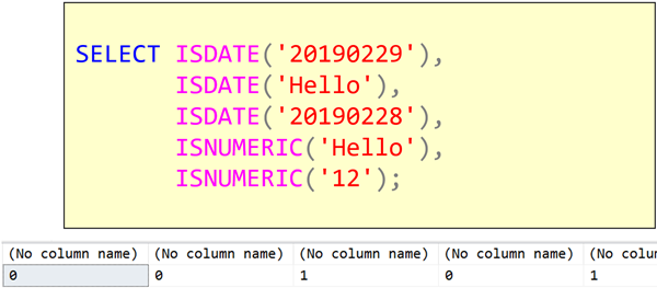 T-SQL 101: #83 Determining if a string is a number or date with ISNUMERIC and ISDATE