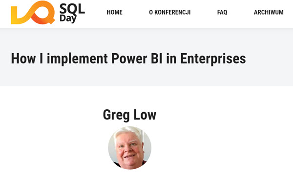 SQL Day 2021 is on, and I'd love to see you in my Power BI pre-con