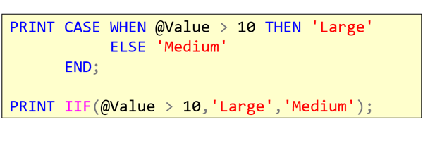 T-SQL 101: #96 Choosing from alternatives with IIF in SQL Server T-SQL